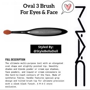 🆕 MAC Cosmetics Oval 3 Brush For Eyes & Face